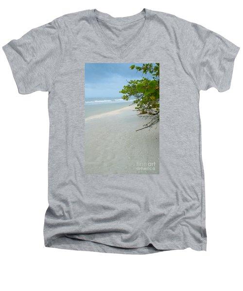 Peace And Quiet On Sanibel Island Men's V-Neck T-Shirt