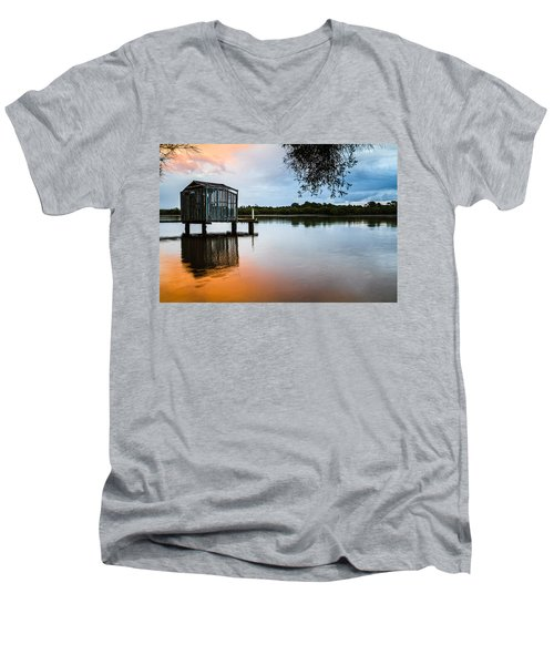 Peace At Pete's Jetty Men's V-Neck T-Shirt