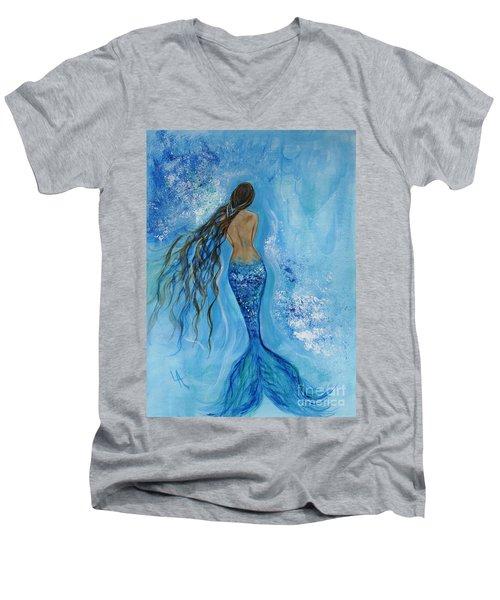 Peace Beneath Men's V-Neck T-Shirt by Leslie Allen