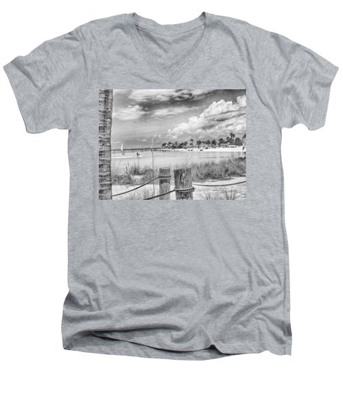 Men's V-Neck T-Shirt featuring the photograph Peace by Howard Salmon