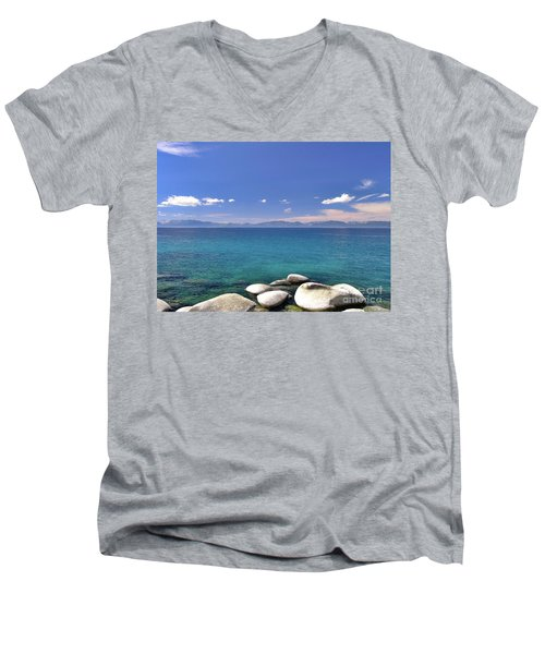 Peace - Lake Tahoe Men's V-Neck T-Shirt