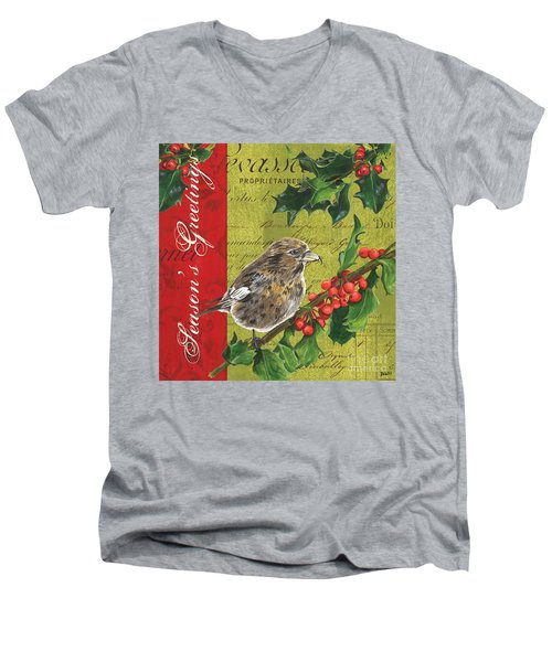 Peace On Earth 1 Men's V-Neck T-Shirt by Debbie DeWitt