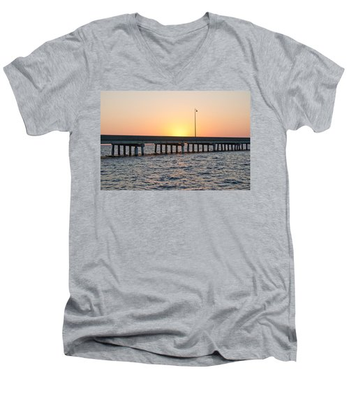 Peace River Bridge - Punta Gorda Florida Men's V-Neck T-Shirt