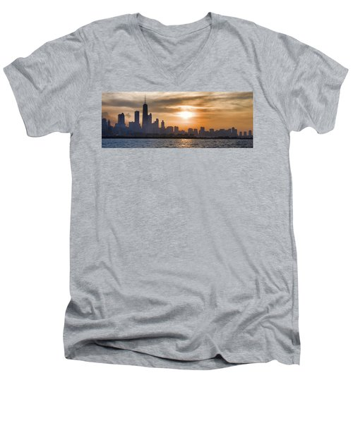 Peaceful Chicago Men's V-Neck T-Shirt