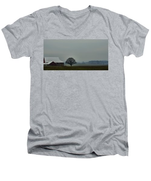 Peaceful Country Morning Men's V-Neck T-Shirt