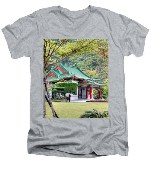 Peaceful Easy Taiwan Men's V-Neck T-Shirt
