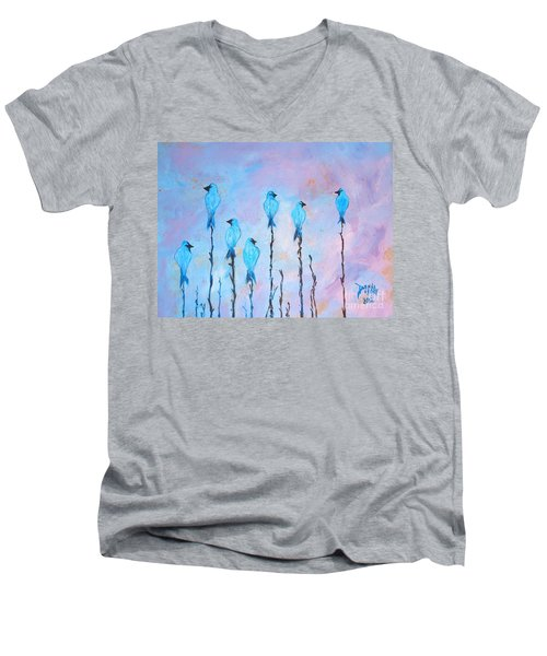 Peaceful Morning Limited Edition Prints 6 Of 20 Men's V-Neck T-Shirt