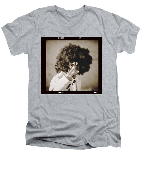 Men's V-Neck T-Shirt featuring the photograph Peaceman by Alice Gipson