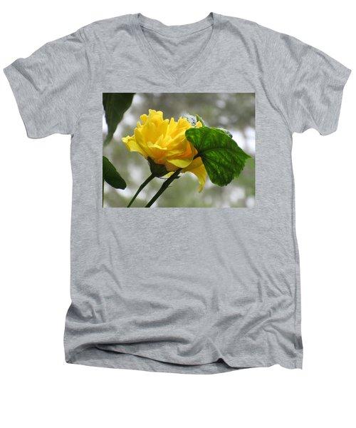 Peachy Yellow Surprise Men's V-Neck T-Shirt