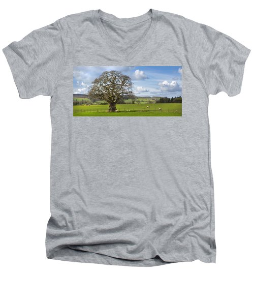 Peak District Tree Men's V-Neck T-Shirt