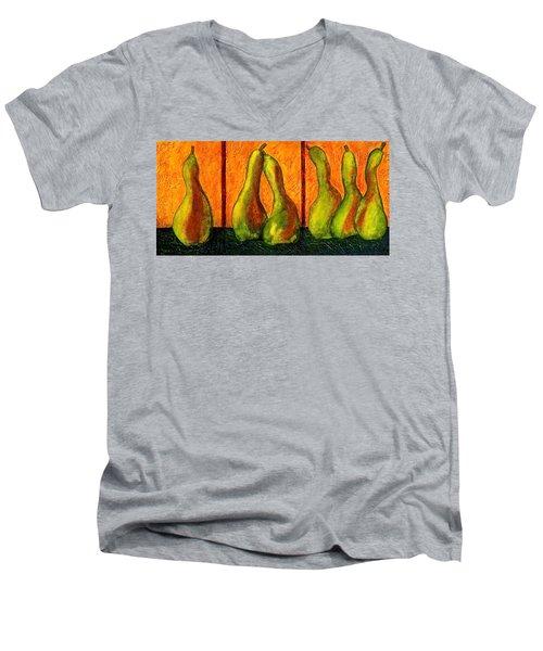 Pear Whimsy Men's V-Neck T-Shirt