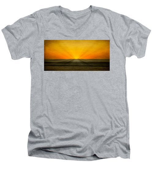 Peeking Over The Horizon Men's V-Neck T-Shirt