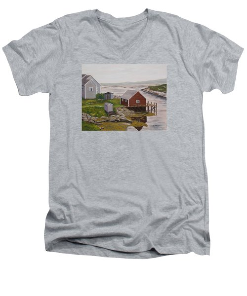 Peggy's Cove Men's V-Neck T-Shirt
