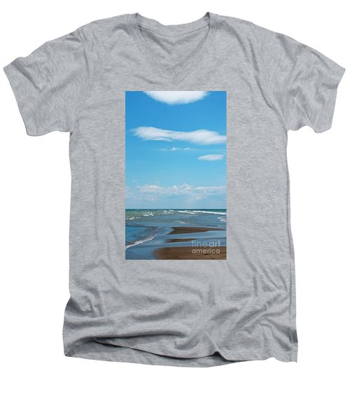 Pelee Men's V-Neck T-Shirt by Ann Horn