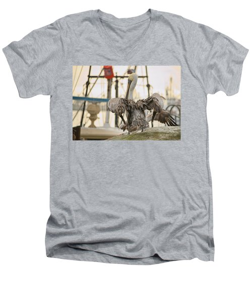 Pelican Strut Men's V-Neck T-Shirt