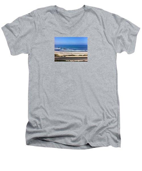 Pelicans And Rider Men's V-Neck T-Shirt