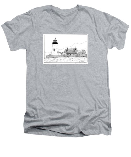 Pemaquid Point Lighthouse Men's V-Neck T-Shirt