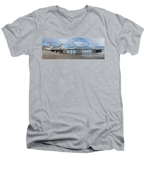 Penarth Pier Panorama 1 Men's V-Neck T-Shirt