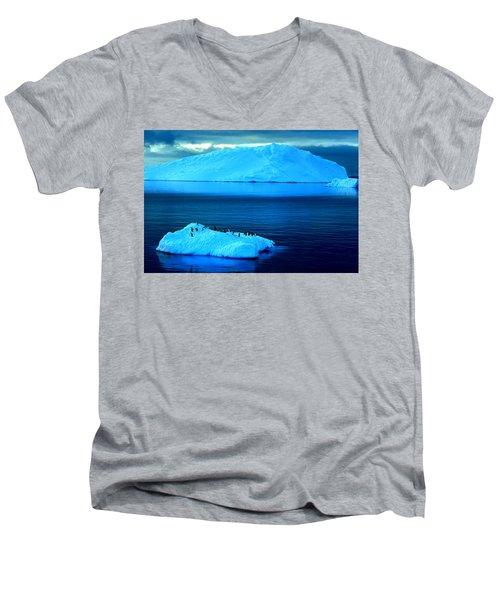 Penguins On Iceberg Men's V-Neck T-Shirt