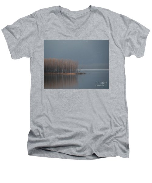 Peninsula Of Trees Men's V-Neck T-Shirt
