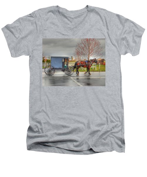 Pennsylvania Amish Men's V-Neck T-Shirt