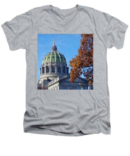 Pennsylvania Capitol Building Men's V-Neck T-Shirt by Joseph Skompski