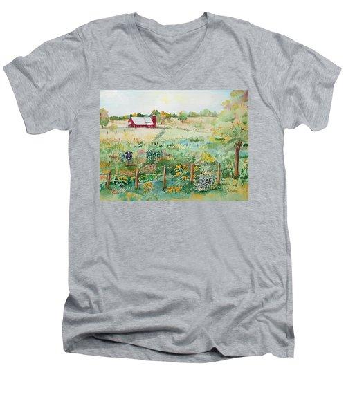 Pennsylvania Pasture Men's V-Neck T-Shirt by Christine Lathrop