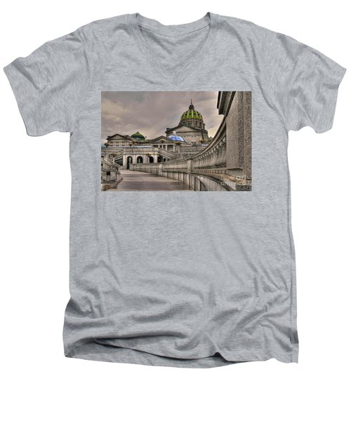 Pennsylvania State Capital Men's V-Neck T-Shirt