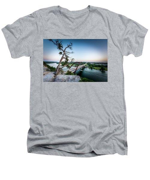 Pennybacker Bridge Austin Men's V-Neck T-Shirt