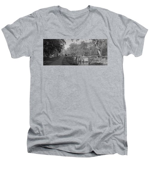 Pennyfield Lock Chesapeake And Ohio Canal Men's V-Neck T-Shirt