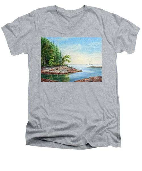 Penobscot Inlet Men's V-Neck T-Shirt