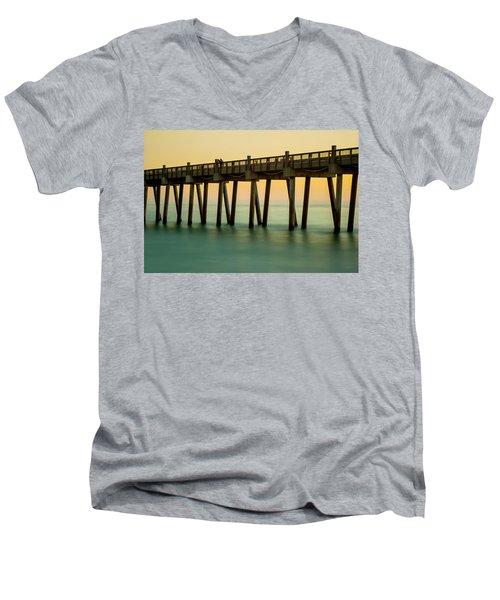 Pensacola Beach Fishing Pier Men's V-Neck T-Shirt