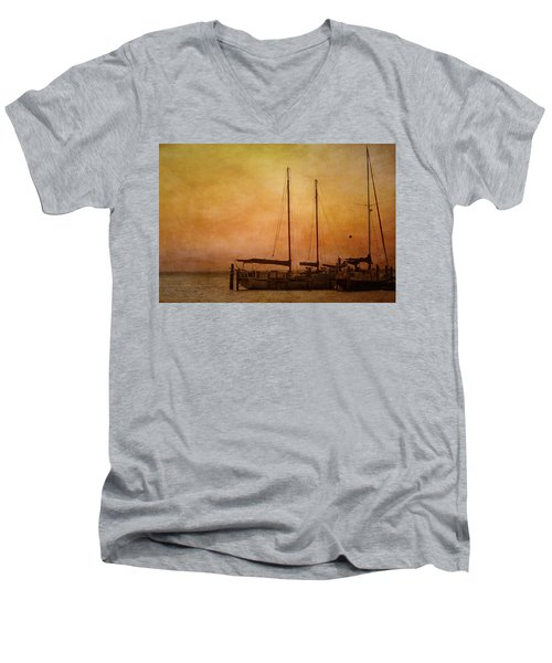 Pensacola Harbor Men's V-Neck T-Shirt