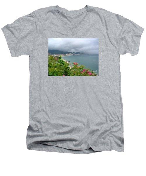 Penthouse View - Puerto Vallarta Men's V-Neck T-Shirt