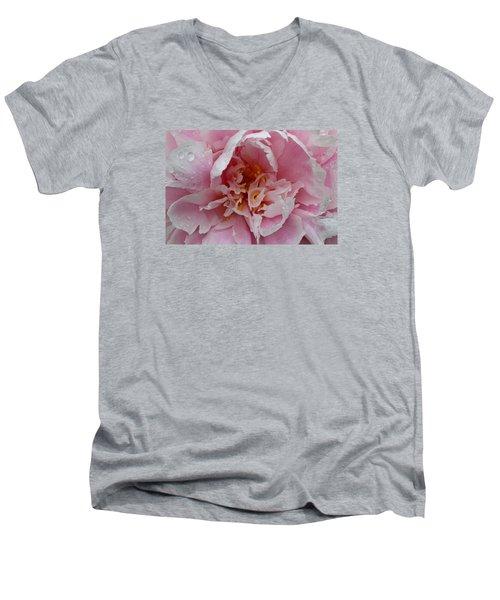 Peony Love Men's V-Neck T-Shirt