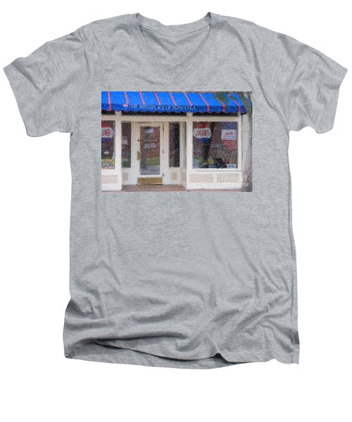 Pepsi Cola Birthplace Watercolor Men's V-Neck T-Shirt