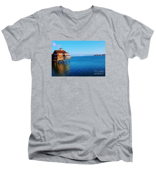 Men's V-Neck T-Shirt featuring the photograph Perfect Day In San Diego by Jasna Gopic