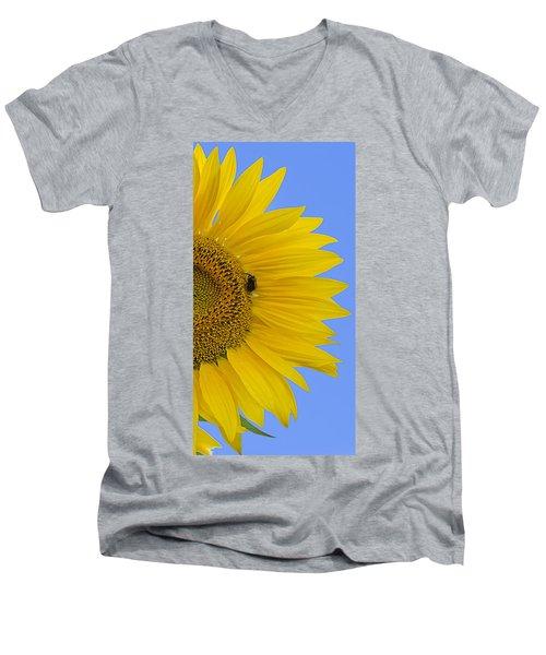 Perfect Half With Blue Sky Men's V-Neck T-Shirt
