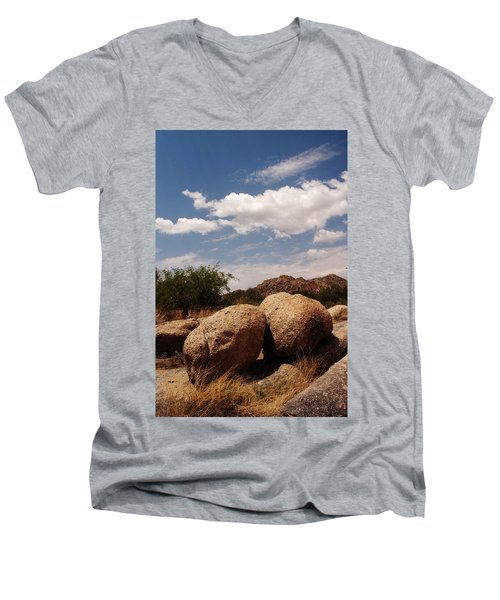 Perfect Pairing Men's V-Neck T-Shirt by Michael McGowan