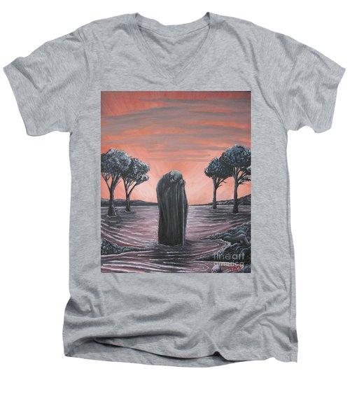 Perils Of Perdition Men's V-Neck T-Shirt by Michael  TMAD Finney