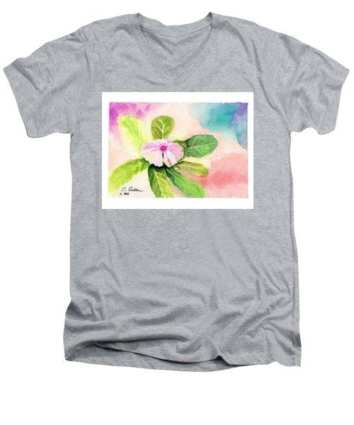 Periwinkle Men's V-Neck T-Shirt by C Sitton