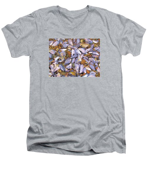 Periwinkles Muscles And Clams Men's V-Neck T-Shirt by Elizabeth Dow