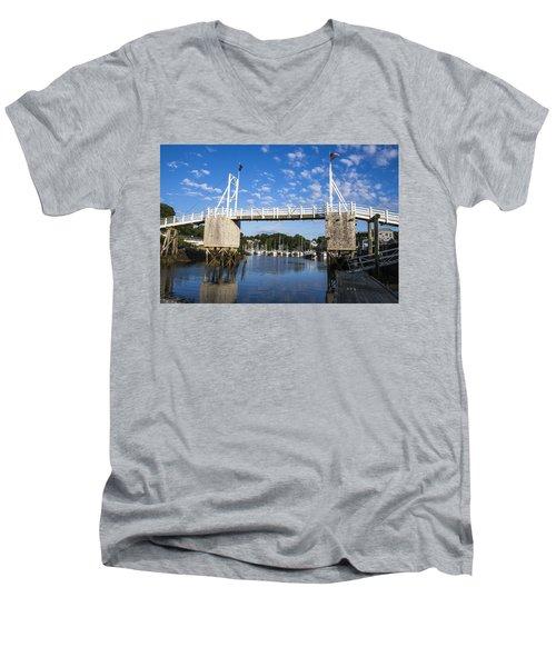 Perkins Cove - Maine Men's V-Neck T-Shirt by Steven Ralser