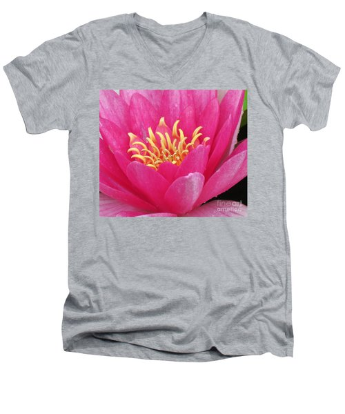 Perry's Fire Opal Water Lily Men's V-Neck T-Shirt