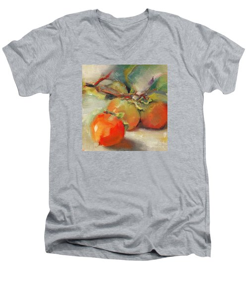 Persimmons Men's V-Neck T-Shirt by Michelle Abrams