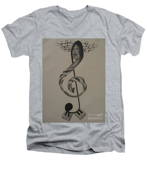Personification Of Music Men's V-Neck T-Shirt