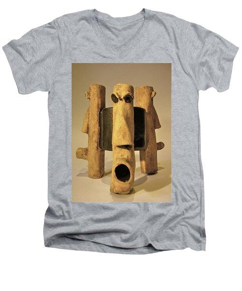 Perspectives Men's V-Neck T-Shirt by Mario Perron