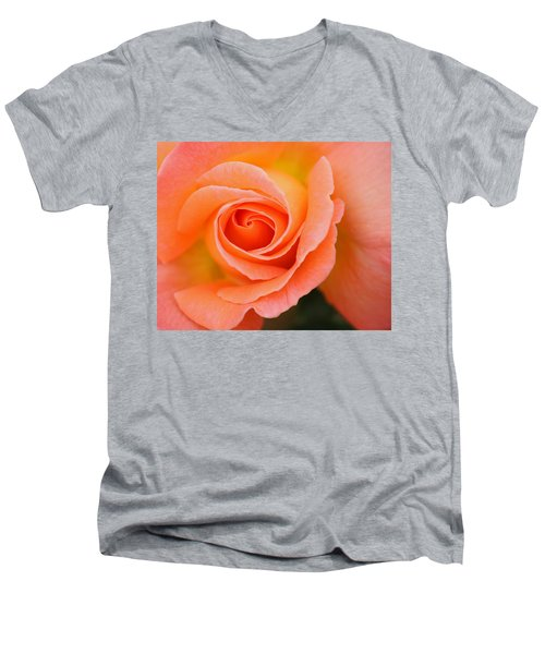 Petals Of Peach Men's V-Neck T-Shirt by Rowana Ray