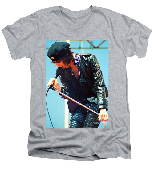 Peter Wolf From J Geils Band - Day On The Green July 4th 1979 Men's V-Neck T-Shirt