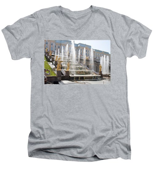 Peterhof Palace Fountains Men's V-Neck T-Shirt